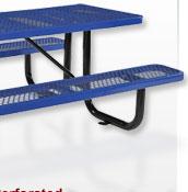 Premium All Steel Metal Mesh Picnic Tables