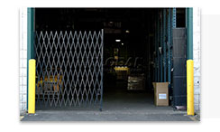 Folding Security Dock Door Gates