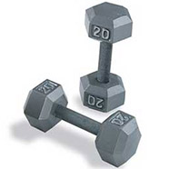Body Solid Grey Hex Dumbbell Set 5-50 lb. Pairs