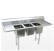 Freestanding 3-Basin Sinks