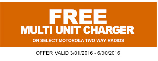 Buy 6 qualifying Motorola units and get a FREE multi unit charger