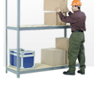 7'H Boltless Wide Span Storage Rack With Wood Deck