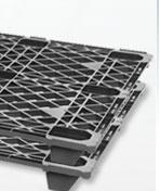 Nestable Shipping Plastic Pallets 2200 Lb. Capacity