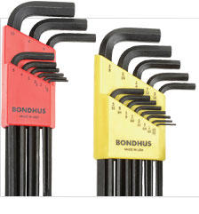 Bondhus 22PC. SAE/Metric Hex Key Set W/FREE 8PC. Torx Fold-Up