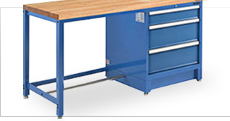 Industrial Modular Drawer Workbenches