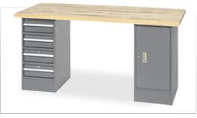 Global Premium Pedestal Workbenches