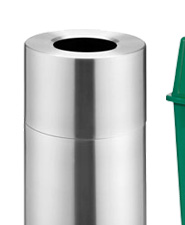 Aluminum Open Top Trash Containers