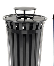 Global Outdoor Metal Slatted Waste Receptacles
