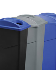 Global Slim Trash Containers