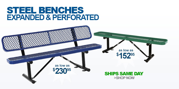 Steel Benches Expanded & Perforated