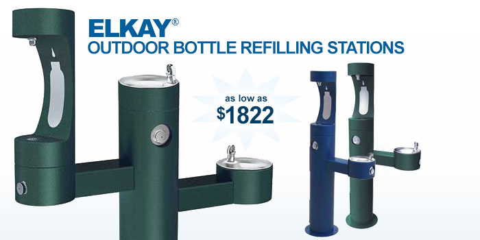 Elkay ® Outdoor Bottle Refilling Stations - as low as $1822