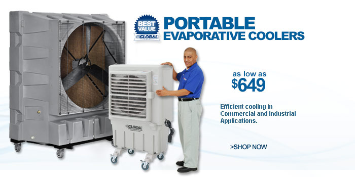 Portable Evaporative Coolers - as low as $649