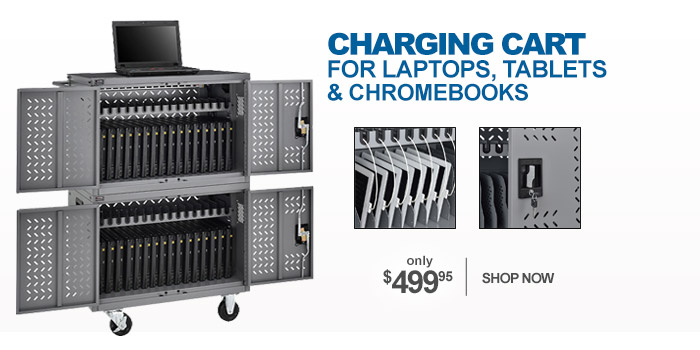 32-Device Charging Cart for Chromebooks Laptops and iPad Tablets - only $499.95