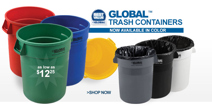 Global™ Trash Containers - as low as $12.25