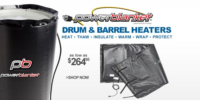 Powerblanket® Drum & Barrel Heaters - as low as $264.95