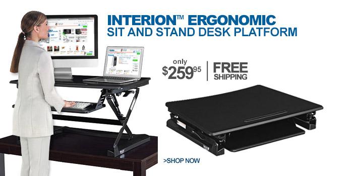 Interion™ Ergonomic Sit and Stand Desk Platform - only $259.95