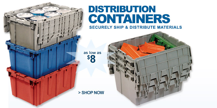 Premium Attached Lid Distribution Containers - as low as $8.00