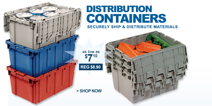 Premium Attached Lid Distribution Containers - as low as $7.10