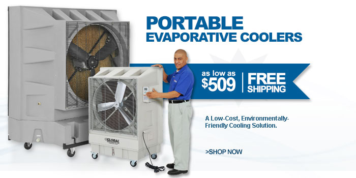 Best Value Industrial Portable Evaporative Coolers - as low as $509