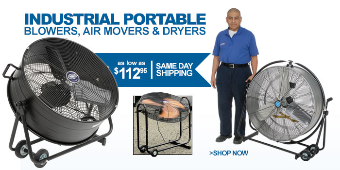 Industrial Portable Blowers, Air Movers   Dryers - as low as $112.95