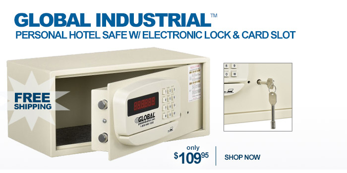 Global Industrial™ Personal Hotel Safe - only $109.95