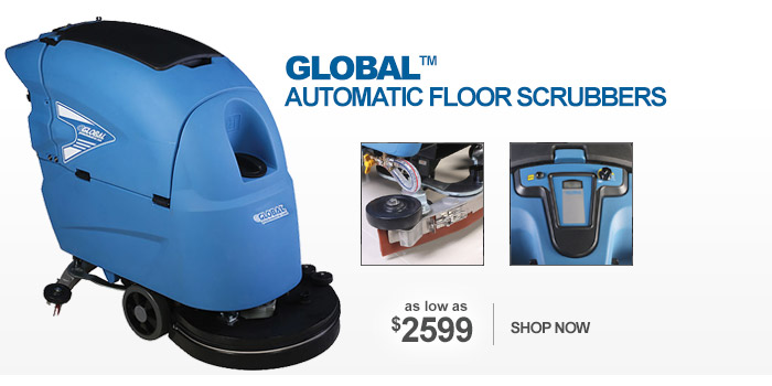 Global™ Automatic Floor Scrubbers - as low as $2599