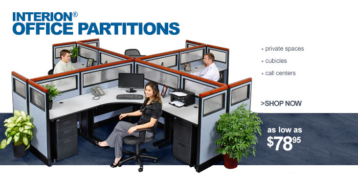 Interion® Office Partitions - as low as $78.95