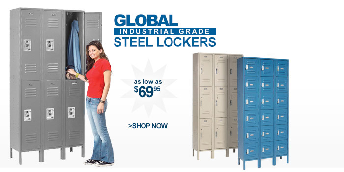 Global Steel Lockers - as low as $69.95