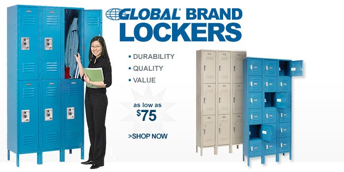 Global Brand Lockers - as low as $75