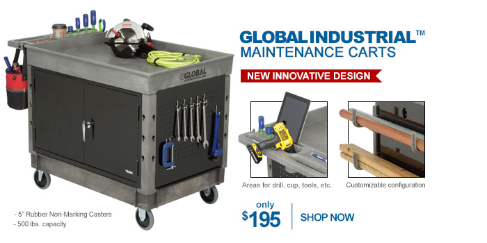 Global Industrial™ Maintenance Carts - only $195