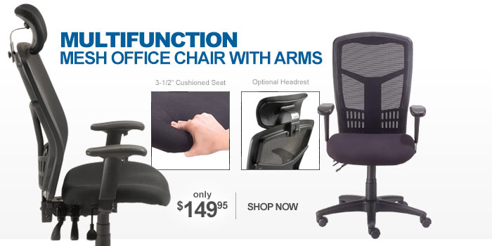 Multifunction Mesh Office Chair with Arms - only $149.95