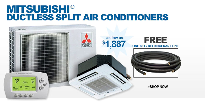 Mitsubishi® Ductless Split Air Conditioners - as low as $1887