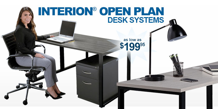 Interion® Open Plan Desk Systems - as low as $199.95