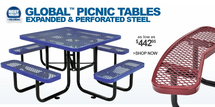 Global ™ Picnic Tables - as low as $442.95