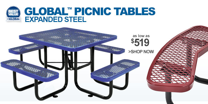 Expanded Metal Picnic Tables - as low as $519