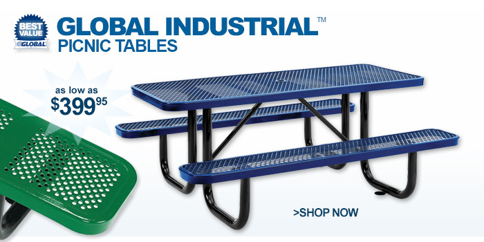 Global Industrial™ Picnic Tables - as low as $399.95