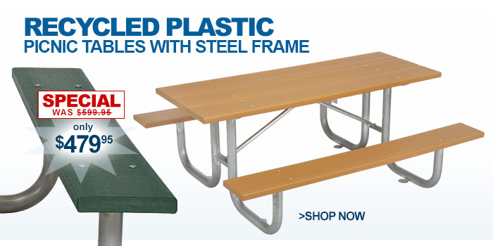 Benches & Picnic Tables | Picnic Tables - Plastic/Recycled Plastic ...
