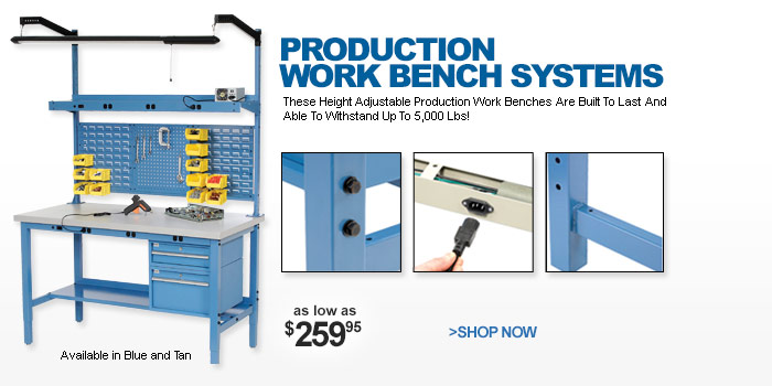 Production Work Bench Systems - as low as $259.95
