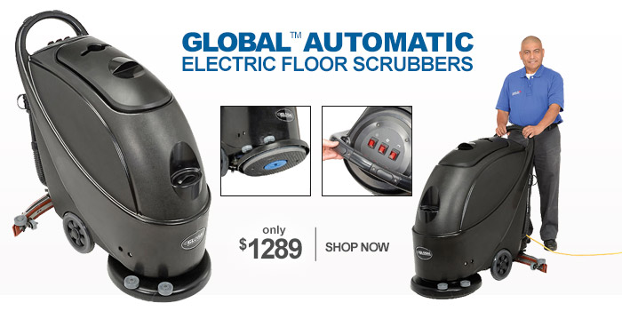 Global Automatic Electric Floor Scrubbers - only $1289