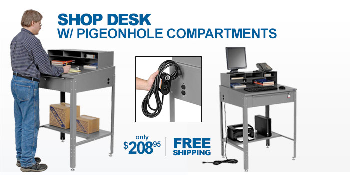 Shop Desk With Pigeonhole Compartments - only $208.95