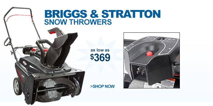 Briggs & Stratton Snow Throwers - as low as $369