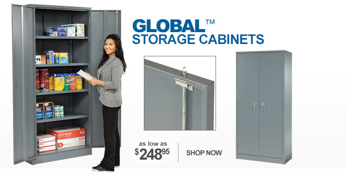 Global™ Industrial Grade Full Height Storage Cabinets - as low as $248.95