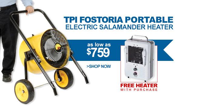 TPI Fostoria Portable Electric Salamander Heater