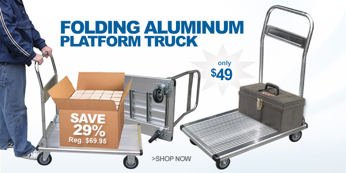 Folding Aluminum Platform Truck - only $49
