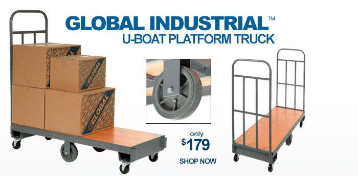 Global Industrial™ U-Boat Platform Truck - only $179