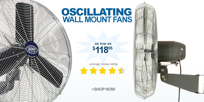 Oscillating Wall Mount Fans - as low as $118.95
