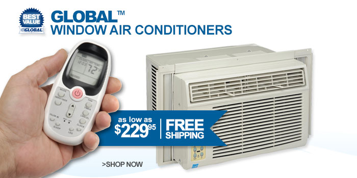 Global™ Window Air Conditioners - as low as $229.95