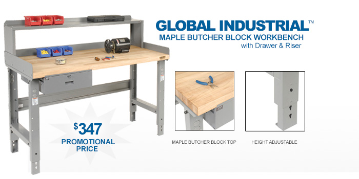 Global Industrial™ Workbench with Drawer - only $347